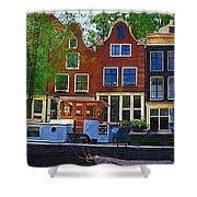 Along The Canal Shower Curtain