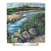 Along The Connecticut Shore Shower Curtain