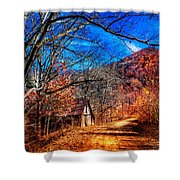 Along The Country Lane Shower Curtain