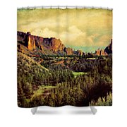Along The Crooked River Shower Curtain