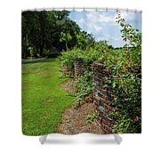 Along The Curved Wall Shower Curtain