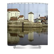 Along The Danube Shower Curtain