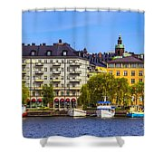 Along The Dock Shower Curtain