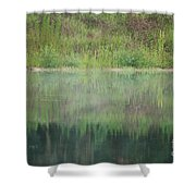 Along The Edge Of The Pond Shower Curtain