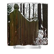 Along The Fence Shower Curtain