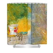 Along The Garden Wall Shower Curtain
