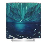 Along The Hamakua Coast  Shower Curtain