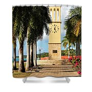Along The Hands Of Time Shower Curtain