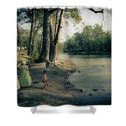Along The Mississinewa River Shower Curtain