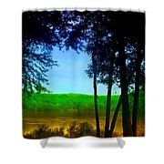 Along The Muddy River Shower Curtain