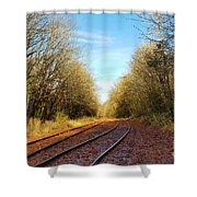 Along The Old Railroad  Shower Curtain