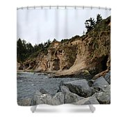 Along The Oregon Coast  Shower Curtain