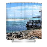 Along The Peaceful Shores  Shower Curtain