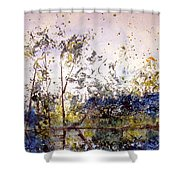 Along The River Bank Shower Curtain