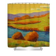 Along The River In Steamboat Springs II Shower Curtain