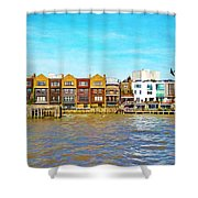 Along The River Thames Shower Curtain
