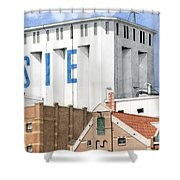 Along The River Zaan Lassie Silo Shower Curtain