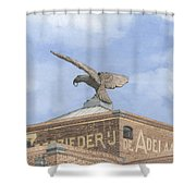 Along The River Zaan Zeepziederij De Adelaar Shower Curtain