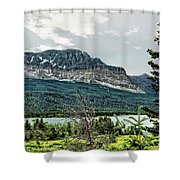 Along The Road To Many Glacier 4 Shower Curtain