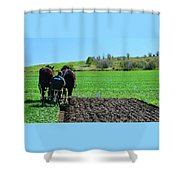 Along The Row Four  Shower Curtain