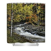 Along The Rural Road Shower Curtain