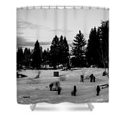 Along The Shore 2 Shower Curtain