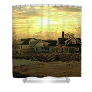 Along The Shores Shower Curtain