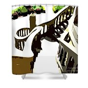 Along The Spiral Stairway Shower Curtain