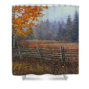 Along The Stoney Batter Road Shower Curtain by Richard De Wolfe