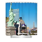 Along The Strip Shower Curtain