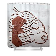 Aloud - Tile Shower Curtain