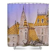 Aloxe Corton Chateau Jaune Shower Curtain