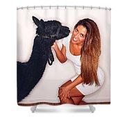 Alpaca Emily And Breanna Shower Curtain