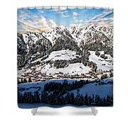 Alpbach Winter Landscape Shower Curtain