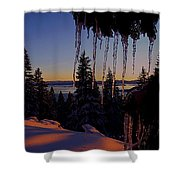 Alpenglow Claws Shower Curtain
