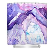 Alpenglow In The Alps Shower Curtain