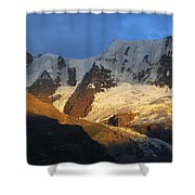Alpenglow On The Swiss Alps Near Murren Shower Curtain