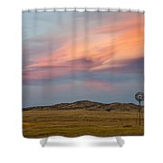 Alpenglow Over South Park, Colorado Shower Curtain