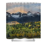San Juan Mountains Fall Colors Sunrise Shower Curtain