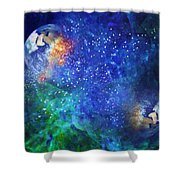 Alpha Centauri Abstract Moods Shower Curtain