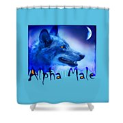 Alpha Male Shower Curtain