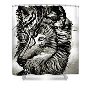 Alpha Male - The Wolf Shower Curtain