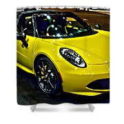 Alpha Romeo 4c Spider Shower Curtain