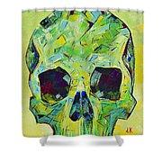 Alpha Skull Shower Curtain