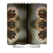 Alpha Waves - Gently Cross Your Eyes And Focus On The Middle Image Shower Curtain