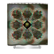 Alpha Waves - View With Red-cyan 3d Glasses Shower Curtain