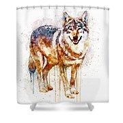 Alpha Wolf Shower Curtain