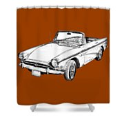 Alpine 5 Sports Car Illustration Shower Curtain