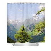 Alpine Altitude Shower Curtain by Jeff Kolker
