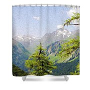 Alpine Altitude Shower Curtain by Jeff Kolker